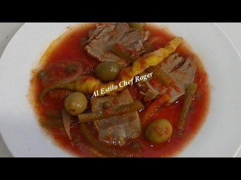 Lengua a la veracruzana receta 218 como hacer lengua - Como cocinar las setas lengua de vaca ...