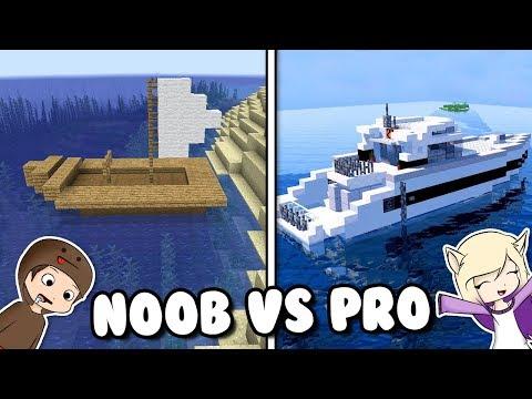 BARCO NOOB VS PRO EN MINECRAFT   BOTE VS YATE thumbnail