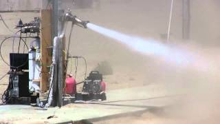 UCSD Liquid Cooled Rocket Test Sponsored by NASA and Chilldyne