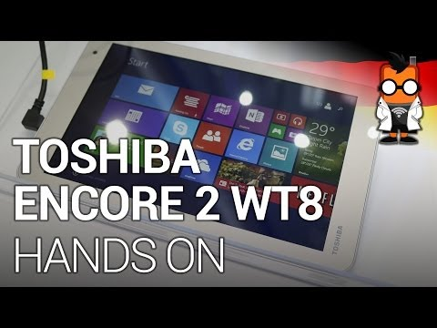 Toshiba Encore 2 WT8 - Günstiges Windows 8.1-Tablet im Hands-on auf der Computex 2014 [DEU]