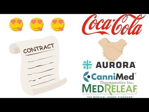 Stock market rumor Coca-Cola Invest into Aurora.