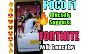 Fortnite Officially Available for Poco F1 || Download and Play fortnite On Poco F1 with gameplay.