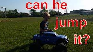 Can a 6 year old jump a $1200 RC car