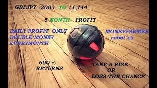 FOREX GBPGPY 2000 $ to 11,744$, 600% PROFIT,  5 MONTH Returns, BEST EA  2018 ,MONEY FARMER EA  ROBOT