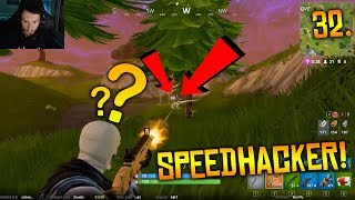 SPEEDHACKER CAUGHT CHEATING LIVE - Fortnite Battle Royale WTF - Funny Moments Episode. 32