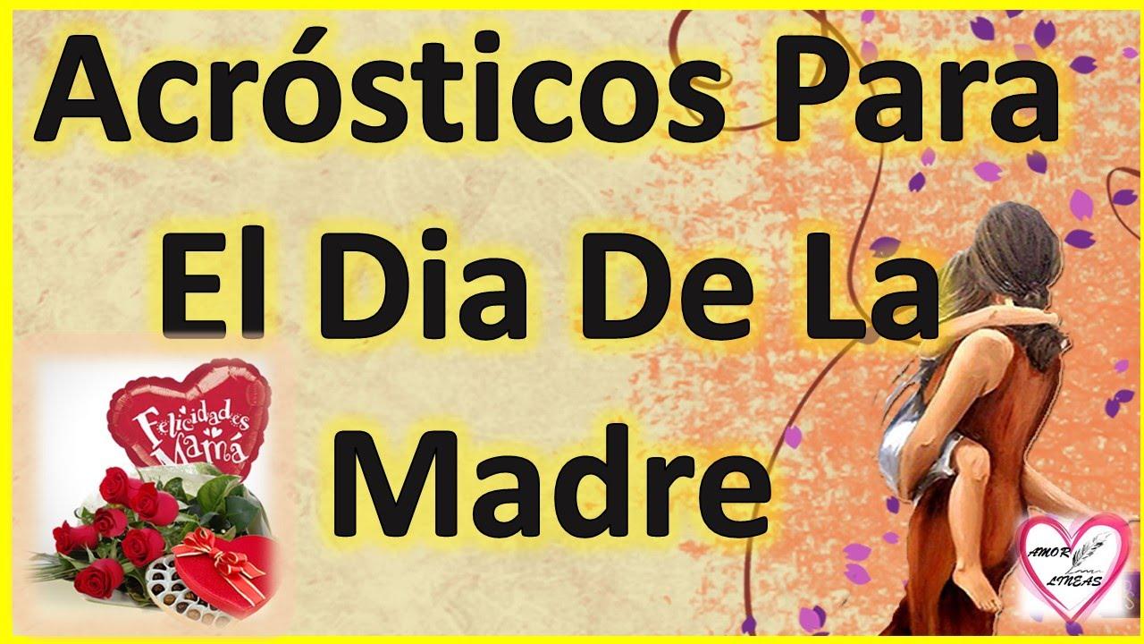 Acrosticos Para El Dia De La Madre Con Amor by Amor Entre Lineas ...