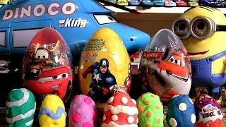 Play Doh Surprise Easter Giant Eggs Marvel the Avengers Disney Planes Pixar Cars Kinder Surprise
