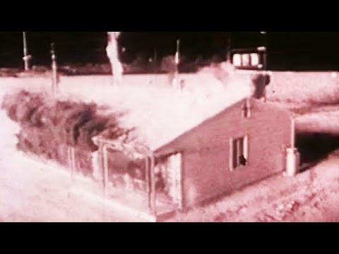 Nuclear Bomb Dropped on Village - 1950s Test