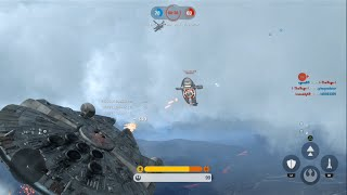 Star Wars Battlefront - 60fps Record Test - Fighter Squadron Gameplay (No Commentary)
