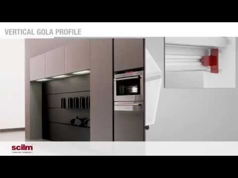 Montaje 3D Perfiles Gola en Muebles de Cocina