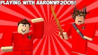 Playing With aaronwf2005!!! (Roblox Assassin)