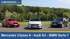 Comparatif Mercedes Classe A vs BMW Série 1 vs Audi A3