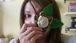 Flor de Tecido em 5 minutos por Dreams Factory by Jeane