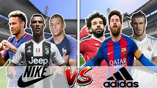 Team NIKE vs Team ADIDAS !!! Who owns the best team?
