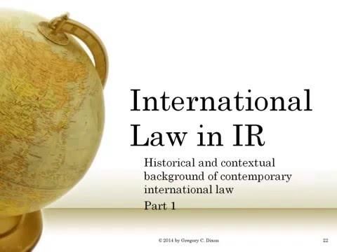 International Law in IR | POLS4501 5501 Part 01