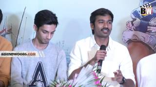 "Dhanush - ""I don't have any ego clash with Anirudh"" - Maari Press Meet - BW"