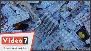 كميات كبيرة من أدوية وزارة الصحة ملقاة فى شارع بالسويس