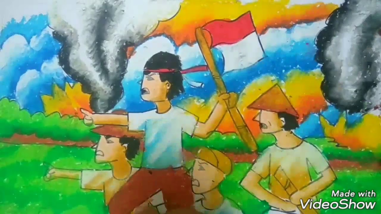 MERDEKA Menggambar Dan Mewarnai Perang Melawan Penjajah Kemerdekaan RI