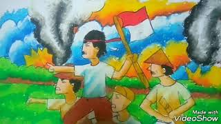 MERDEKA..ayo belajar menggambar dan mewarnai tema kemerdekaan