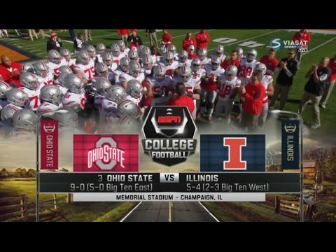 Ohio State vs Illinois Full game Week 11 College Football 2015