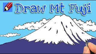 How to draw Mount Fuji Real Easy - step by step