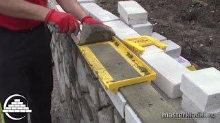 Тестируем набор Каменщика 'Кирпич' - приспособление для кладки кирпича 1-я часть- [masterkladki]