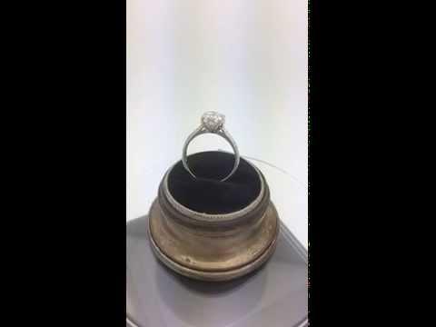 Authentic Platinum Tacori Diamond Engagement Ring with GIA 1.08ct center diamond