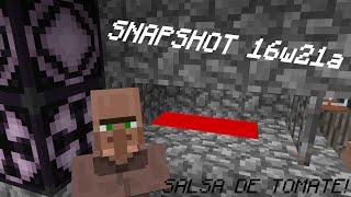 Minecraft Review 16w21a [Salsa de Tomate]
