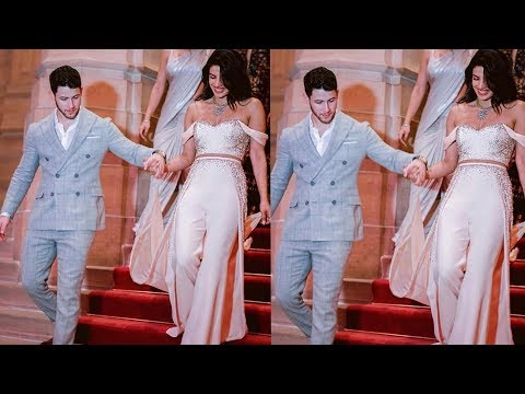 Priyanka Chopra having princess moment with hubby Nick Jonas at Wedding reception