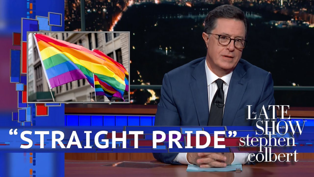 Video: Stephen Colbert skewers proposed 'Straight Pride