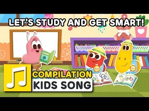 LET'S STUDY AND GET SMART! | 2nd COMPILATION | LARVA KIDS | BEST SONGS FOR KIDS