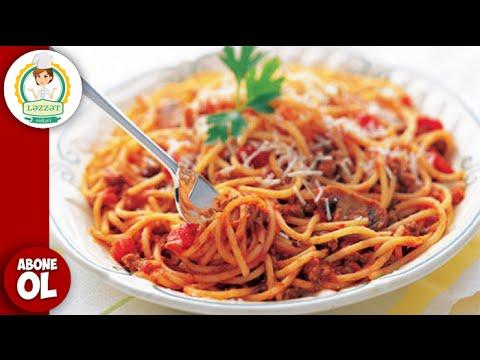 Soslu Spaghetti Hazirlanma Qaydasi