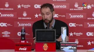 Rueda de prensa de Machín tras el RCD Mallorca vs Girona FC (1-0)