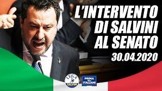 In diretta dal senato, portando la voce di milioni italiani.