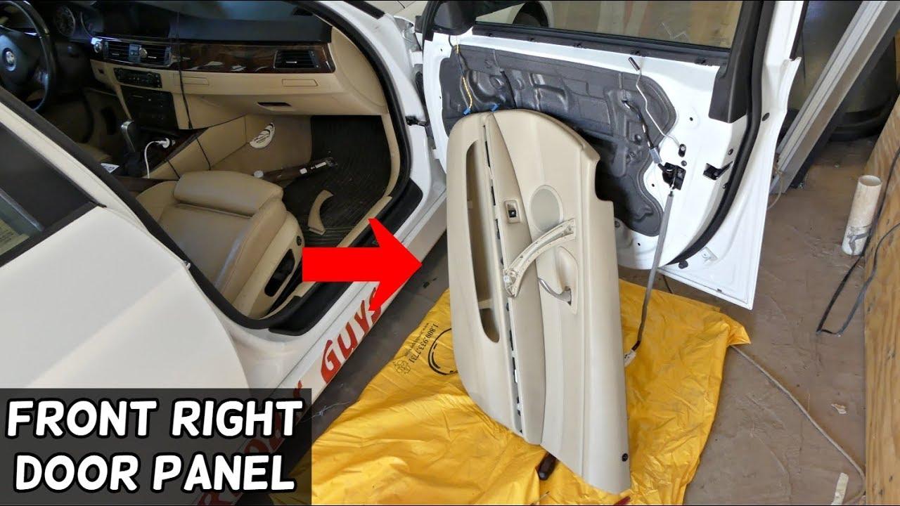 How To Remove Front Right Door Panel On Bmw E90 E91 E92 E93 Youtube