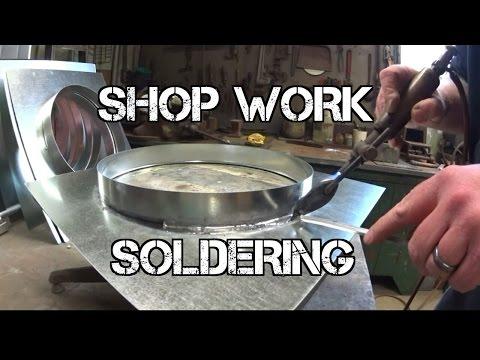 SHOP WORK...Soldering Flashings #HVAC