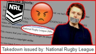 THE NRL TOOK DOWN MY VIDEO (COPYRIGHT STRIKE)