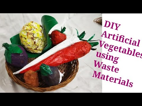 DIY Artificial Vegetables Making with Waste Material| Newspaper Craft| Art and Craft| #tulikajagga