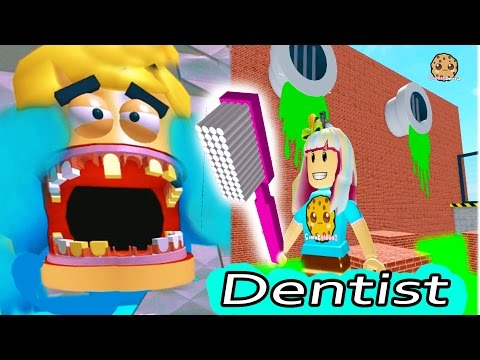 Dental Office Visit Jumping On Teeth & Poop ? Roblox Video Game Play Escape The Evil Dentist Obby