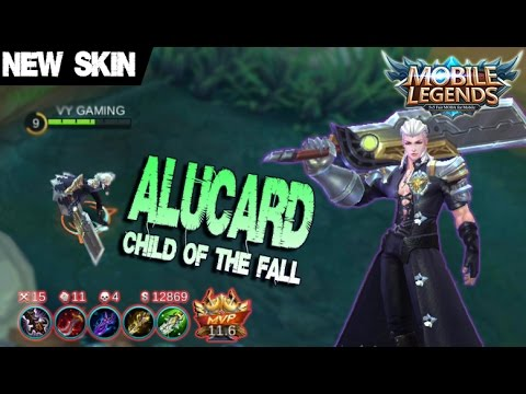 Mobile Legends - New Epic Skin ALUCARD Child of the Fall Gameplay and Build [MVP]