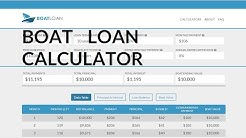 Loan Calculator For Buying A Boat | Boat Payment Calculator