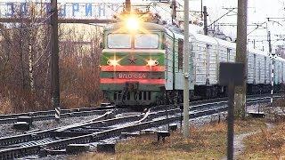 Электровоз ВЛ10 654 с рефрижераторным поездом