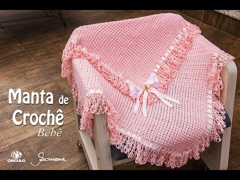 f402a9350b6d0 Manta de Crochê para bebê - Professora Simone Eleotério - YouTube