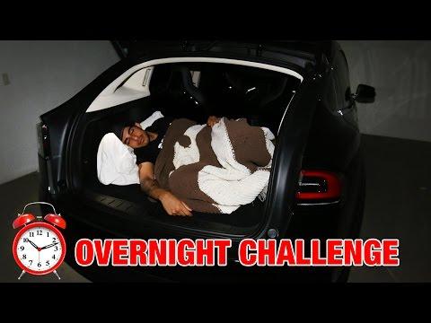 24 HOUR OVERNIGHT CHALLENGE IN TESLA MODEL X