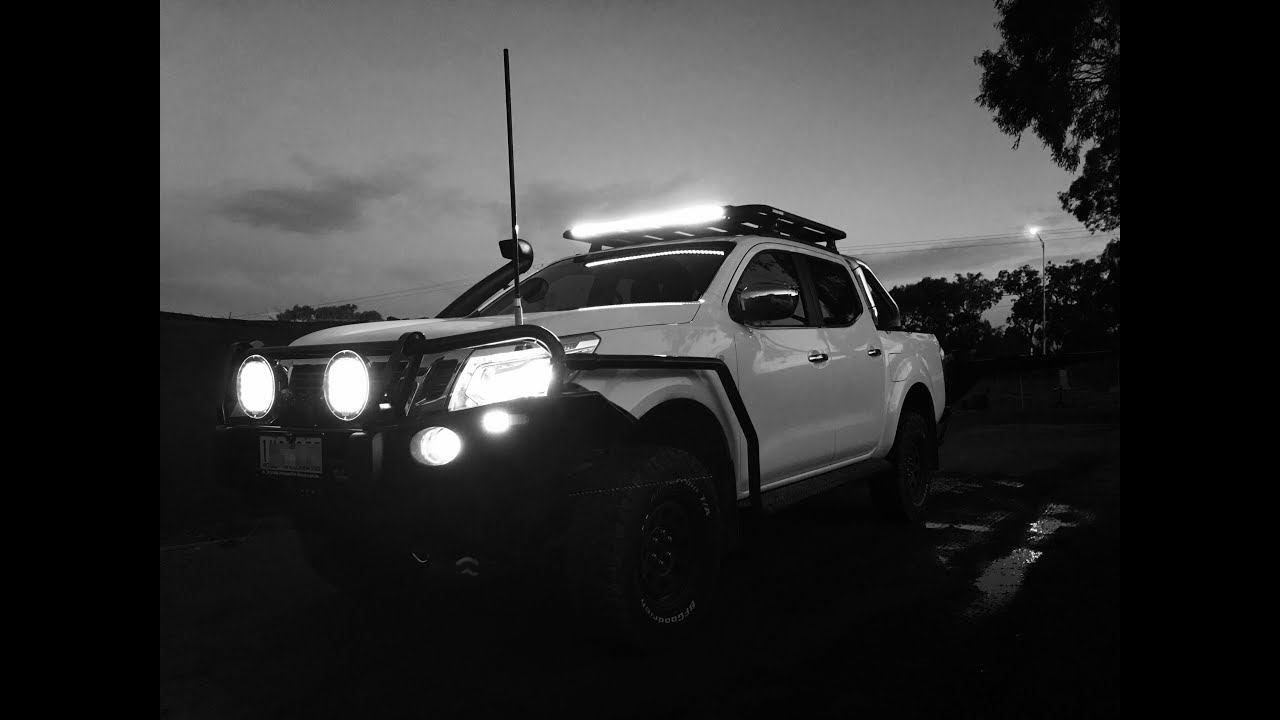 maxresdefault install of led driving spot lights nissan navara np300 d23 2016 illuminator wiring harness instructions at bakdesigns.co