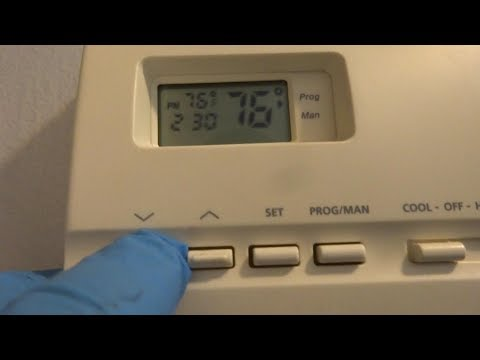 HVAC thermostat issues owner thinks