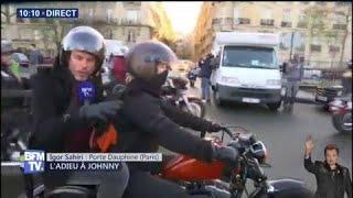 BFMTV avec les bikers qui vont rendre hommage à Johnny Hallyday