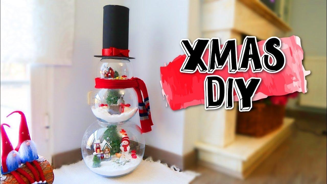 Muñeco De Nieve Con Esferas De Cristal Ideas Fáciles Para Navidad