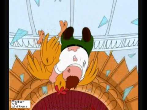 Family guy- peter v.s the giant chicken fight 2