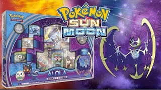 FULL ART PARTY Pokemon Sun & Moon Lunala GX Alola Collection Box Opening!